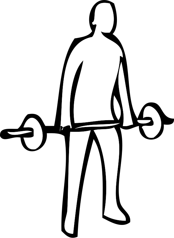 gym weights coloring pages - photo#20