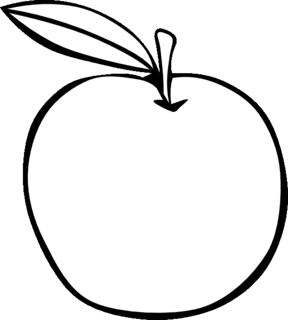 Apple Outline Clip Art : 果物 イラスト 塗り絵 : イラスト